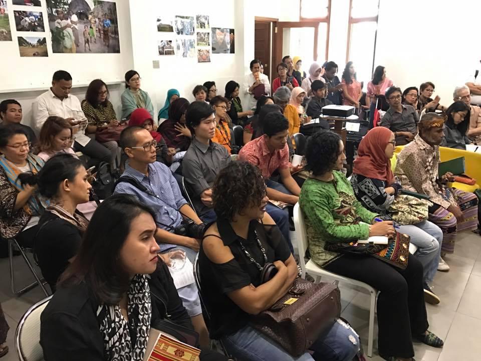 Peserta peluncuran Mama Aleta Fund di Ke-Kini, Jakarta (photo by Nurul Chairunnisa)