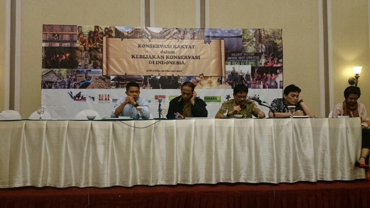 Sandoro Purba, Saat Menjadi Narsum Seminar Konservasi Rakyat