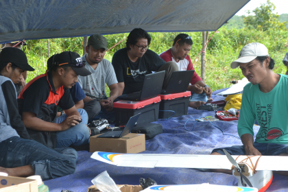 Setting data dan persiapan terbang
