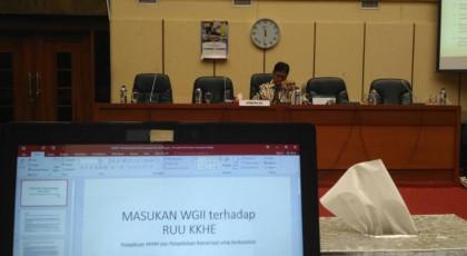 Viva Yoga, Komisi IV DPR RI saat memimpin audiensi WGII dengan Komisi IV DPR RI mengenai RUU KKHE