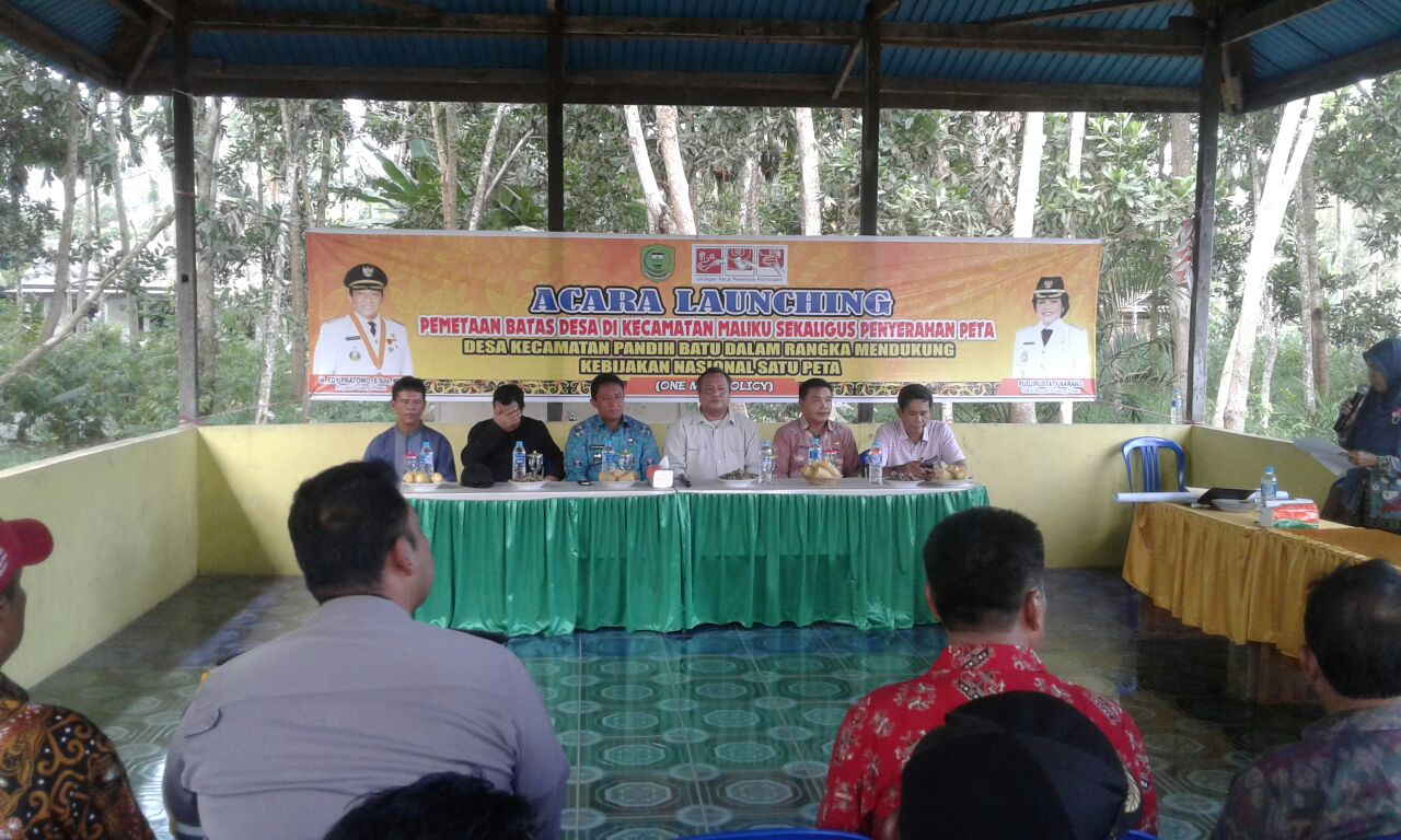 Suasana launching Pemetaan Partisipatif batas desa Kecamatan Maliku dan Pandih Batu, Kab. Pulang Pisau, Kalteng