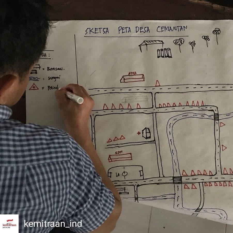 Pembuatan Peta Sketsa merupakan bagian dari tahapan Pemetaan Partisipatif