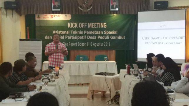 JKPP Gelar Kick Off Meeting Pemetaan  Desa Peduli Gambut 2018