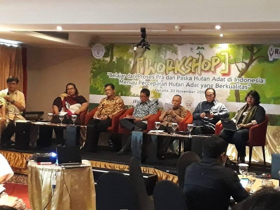 workshop Belajar Dari Proses Pra Dan Paska Hutan Adat Di Indonesia Menuju Percepatan Hutan Adat Yang Berkualitas.