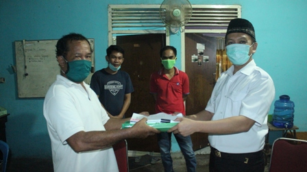 Penyerahan Dokumen BATBD dan Peta Desa dari SLPP Tokalejaku kepada Bappeda Luwu Utara (22 April 2020)