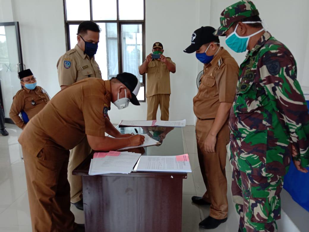 Penyerahan dan Penandatanganan BATB Se Kecamatan Sukamaju Selatan.